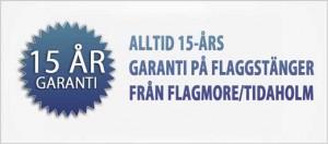 15 års garanti på flagstänger från Flagmore
